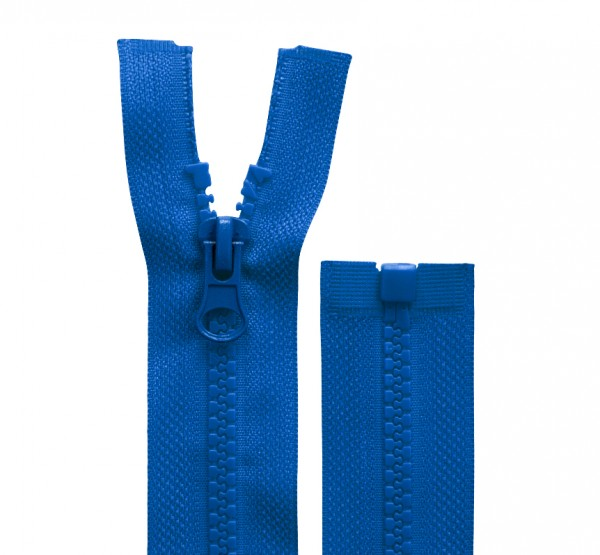 Reissverschluss teilbar - 5mm Dekor - royal