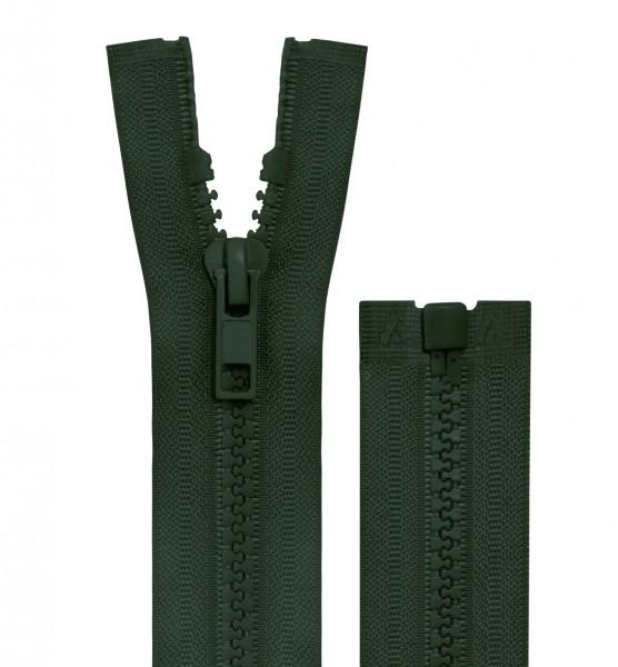 Reissverschluss teilbar - 5mm Dekor - dunkelgrün