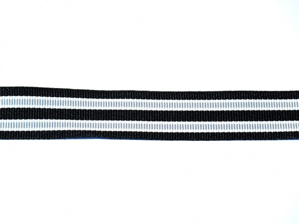 """Ripsband """"Stripes"""" schwarz/grau"""