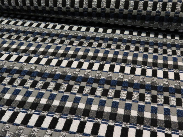 "Jacquardjersey ""Mika"" schwarz-blau-grau"