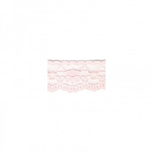 """Nylonspitze Flower 25mm """"rosa"""""""