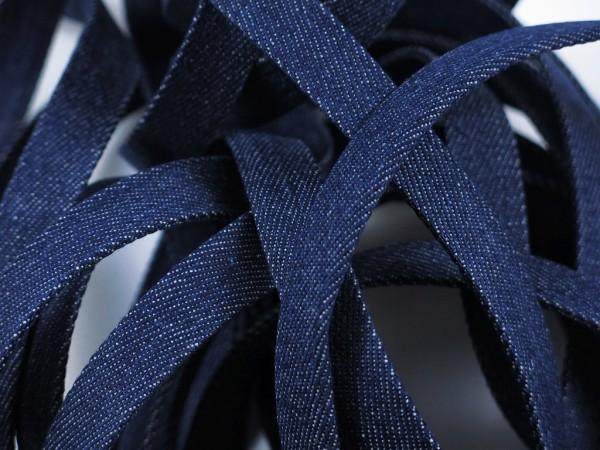 "Jeans Flachkordel 15mm ""dunkelblau"""