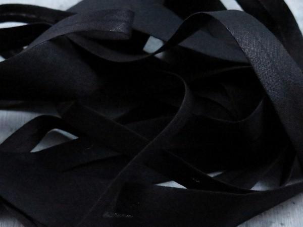 """Baumwoll-Schrägband 12mm """"schwarz"""""""