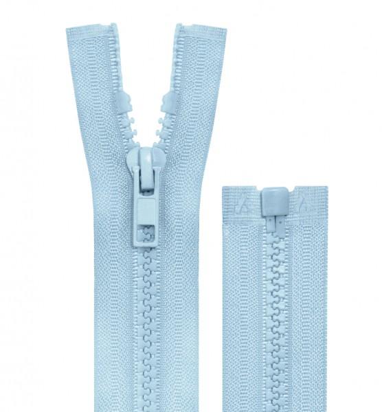 Reissverschluss teilbar - 5mm Dekor - hellblau