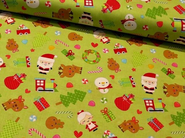 "Baumwollstoff ""Santa Express"" Riley Blake"