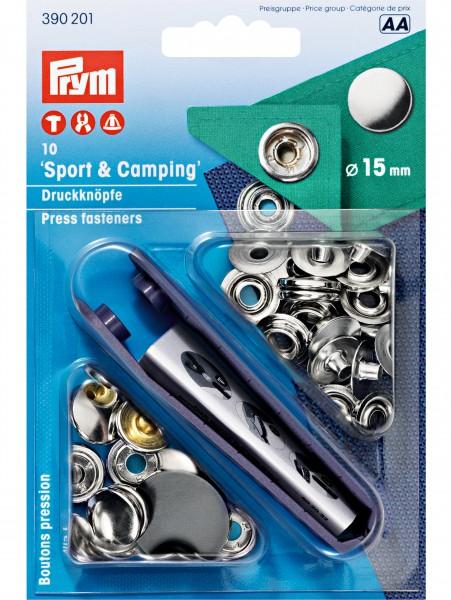"Prym Sport&Camping Druckknöpfe "" silber "" 15mm"