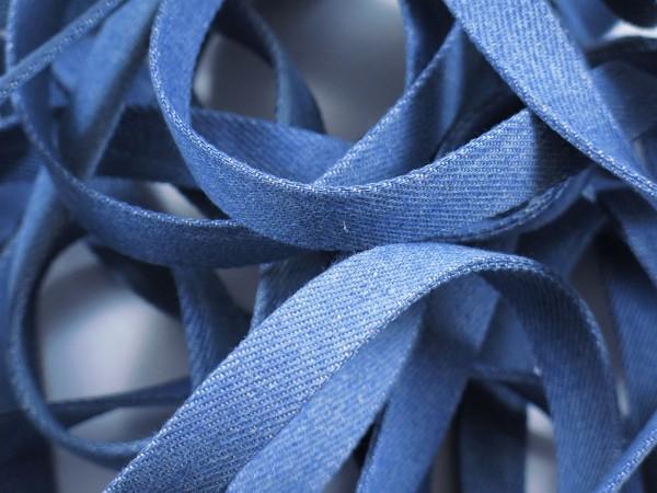 """Jeans Flachkordel 15mm """"hellblau"""""""