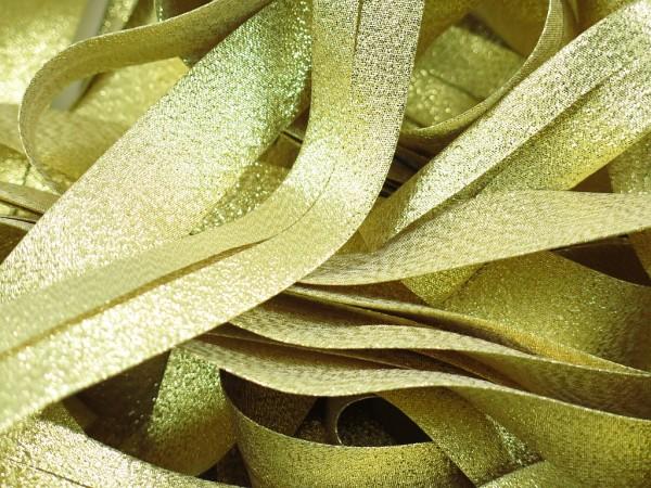 """Schrägband Glitzer 20mm """"gold"""""""