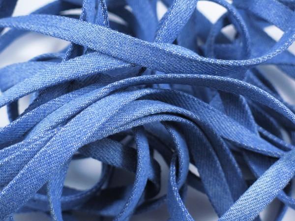 """Jeans Flachkordel 10mm """"hellblau"""""""
