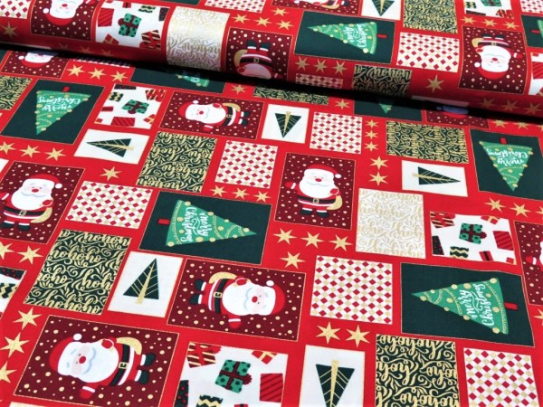 "Baumwollstoff ""Christmas Patchwork"""