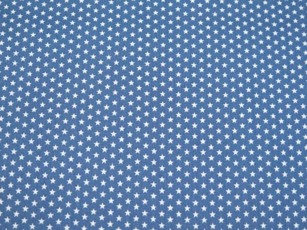 "Baumwollstoff ""Mini Star"" blau"