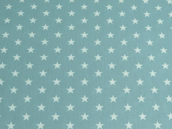 "Baumwollstoff ""Stars"" alt grün"