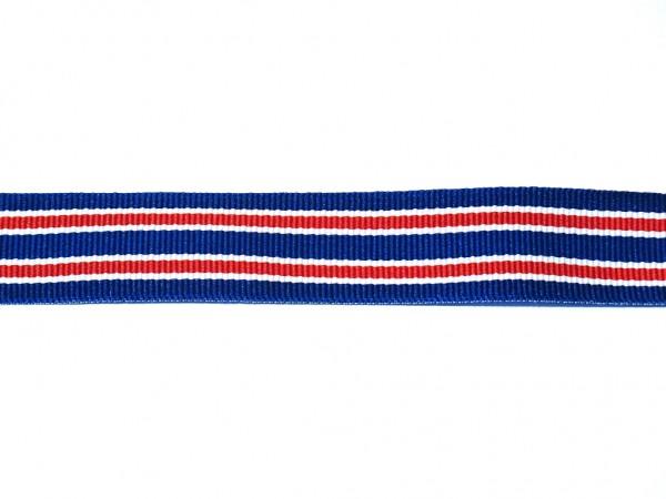 "Ripsband ""Stripes"" blau/rot"