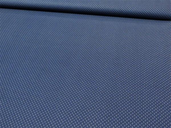 "Baumwollstoff ""tie"" blau"