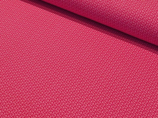 "Sommersweat ""Mini Ecken"" pink"