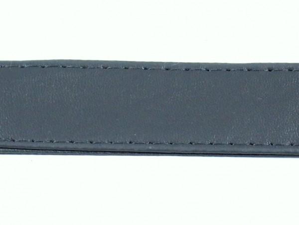 "Kunstleder Gurtband ""grau"" 25mm"