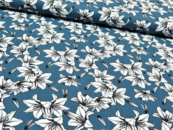 """Canvas """"Blumen"""" blau"""
