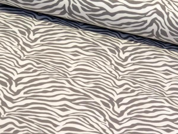 """Sommersweat """"Zebra"""" grau/weiss"""