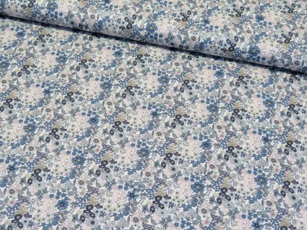 """Baumwoll Popeline """"Blumen"""" jeans"""
