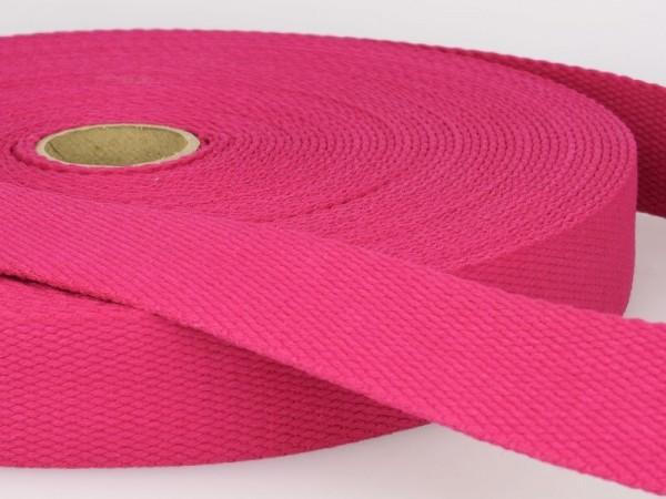 "Baumwollgurtband ""pink"" 30mm"