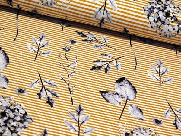"""Viskosejersey """"Stripes Spring"""" gelb"""