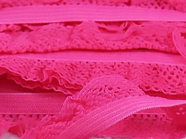 """Rüschengummi """" pink """""""