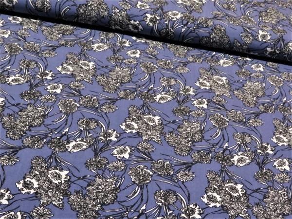"Viskose ""Blumen"" Lavendel"