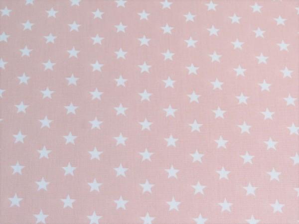 "Baumwollstoff ""Stars"" rosa"