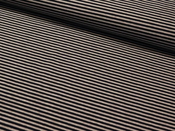 """Sommersweat """"Strips 5mm"""" navy-grau"""