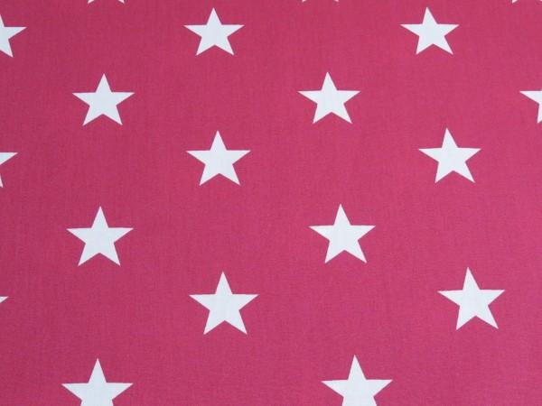 "Baumwollstoff ""big Stars"" pink"