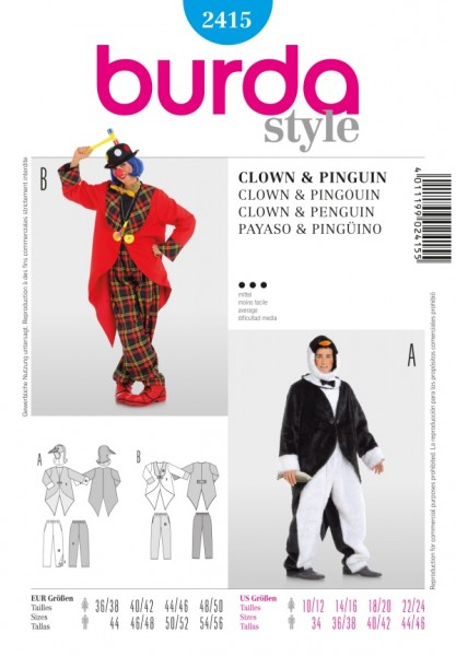Clown + Pinguin - 2415