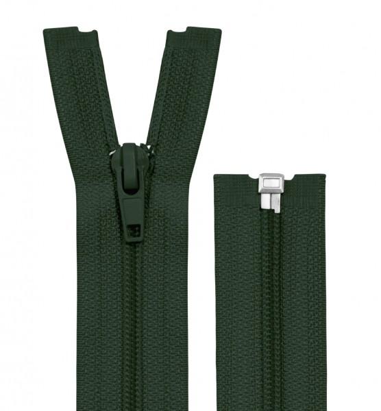 Reissverschluss teilbar - Spirale - dunkelgrün