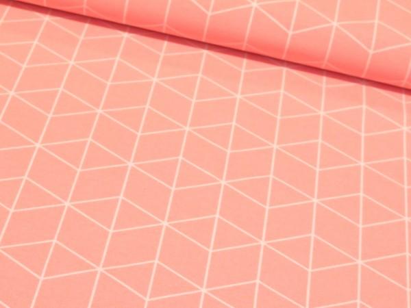 "Canvas ""Geometric"" lachs"