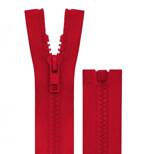 Reissverschluss teilbar - 5mm Dekor - rot