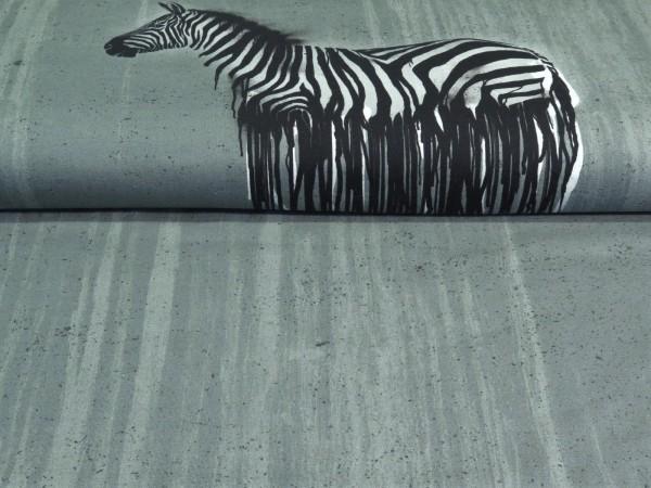 """Baumwolljersey Panel """"Wild Zebra"""" by Thorsten Berger"""