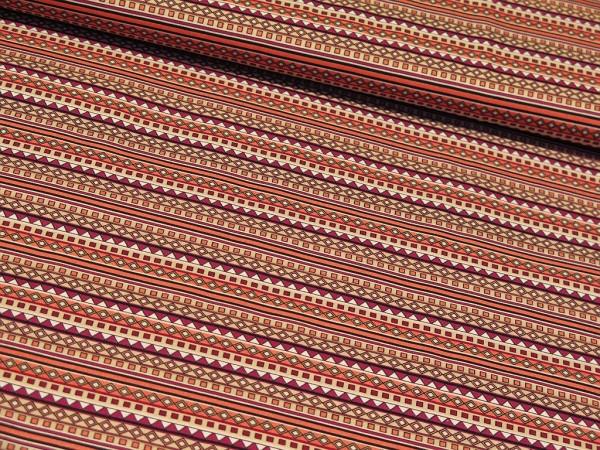 "Baumwollstoff ""Ethno Stripes"" magenta"
