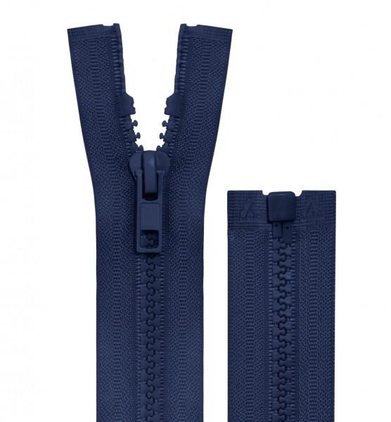 Reissverschluss teilbar - 5mm Dekor - dunkelblau