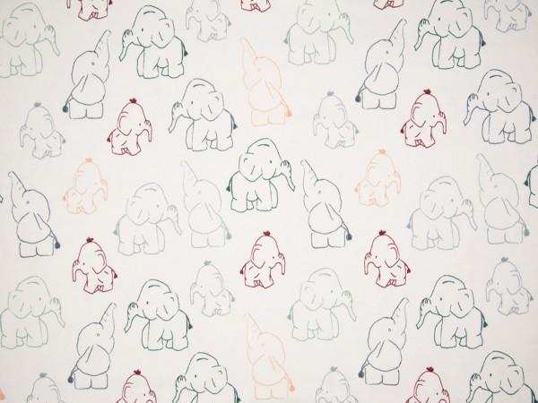 """Baumwolljersey """"Little Elephant"""" bunt"""