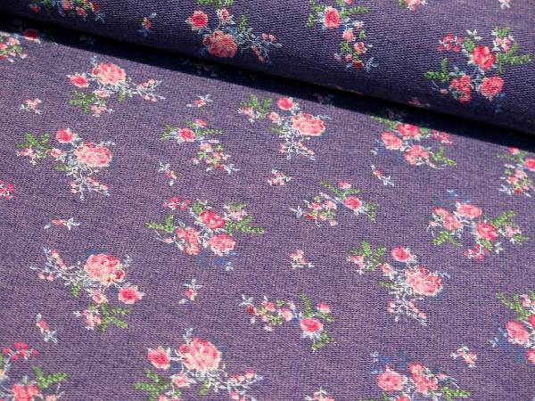 "Sommersweat ""Flower Time"" jeansblau"