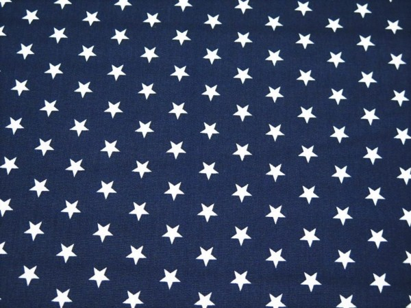 "Baumwollstoff ""Star"" navy"
