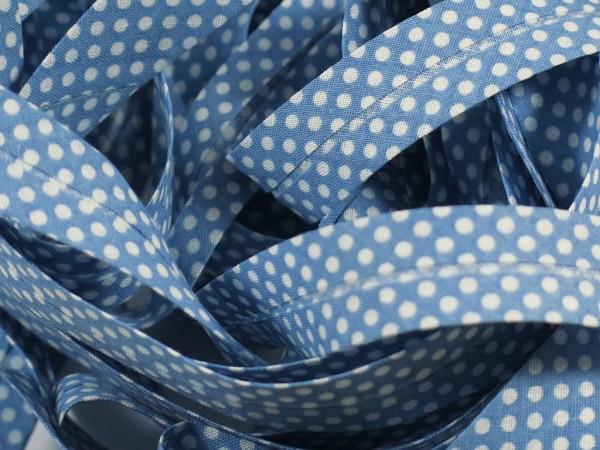 "Baumwoll-Schrägband Dots ""jeans"" 20mm"