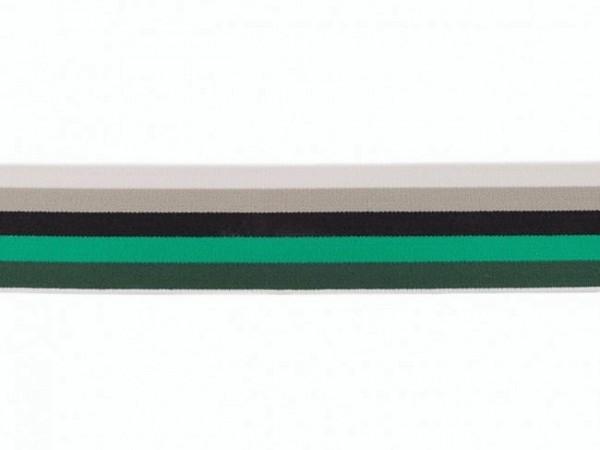 """weicher Gummi 40mm """"Streif"""" grün/schwarz/grau"""