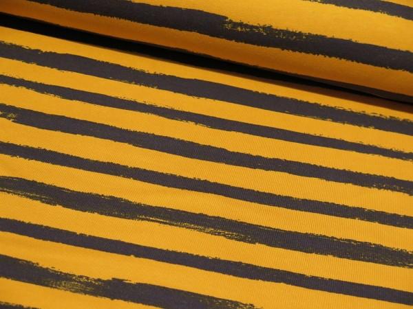 """Sommersweat """"Stripes"""" gelb/blau"""