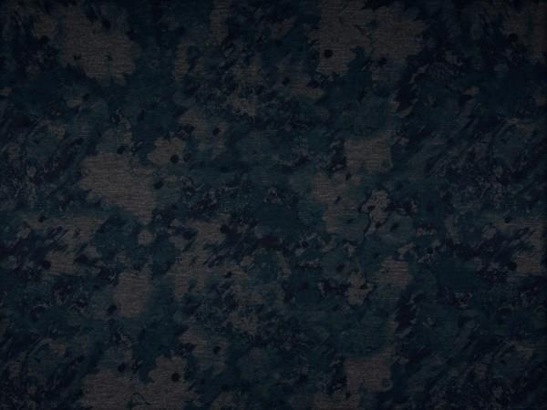 """Punto Jersey """"Blumen"""" grau/blau"""