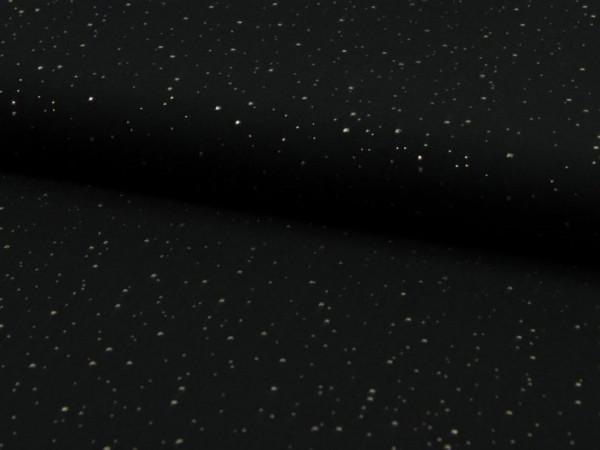 "Viskose ""sparkle dots"" schwarz"