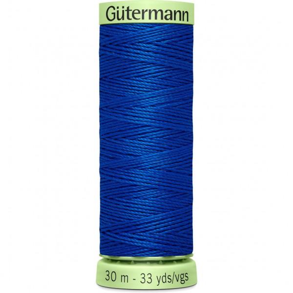 Knopflochgarn - Zierstichfaden - kobaltblau