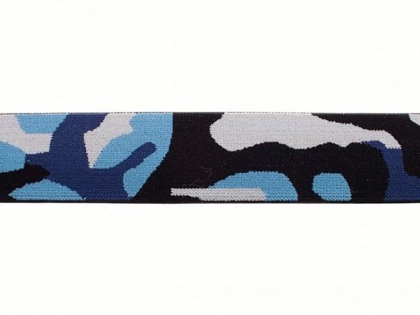 """weicher Gummi 40mm """"Camouflage"""" blau"""