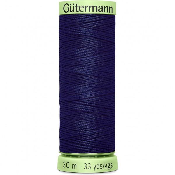 Knopflochgarn - Zierstichfaden - dunkelblau