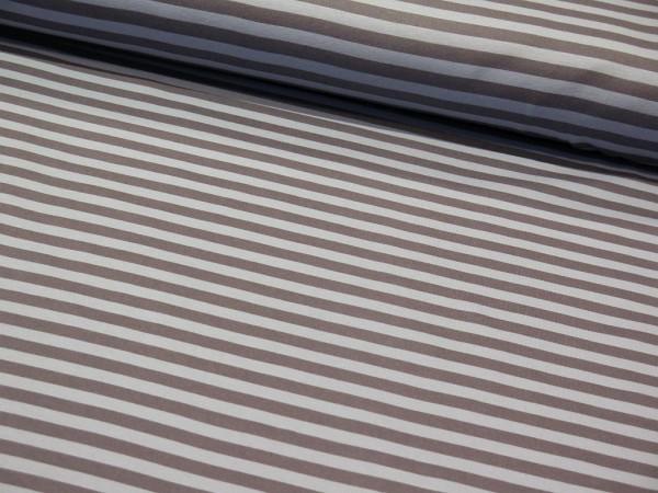 """Bio Interlock """"Stripes"""" grau/dusty blau"""