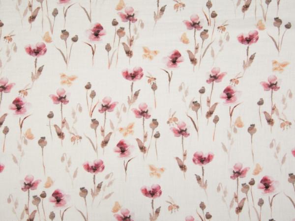 "Musselin ""Blumen"" marsala"